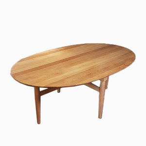 Mid-Century Danish Large Oval Coffee Table by Niels O. Møller for Gudme Mobelfabrik