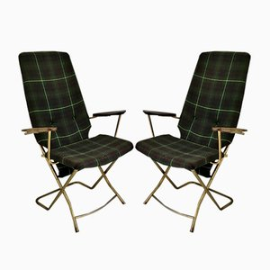 Vintage Folding Armchairs, Set of 2