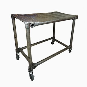 Vintage Industrial Welded Mechanics Table
