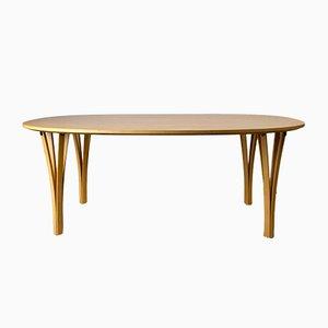 Tavolino da caffè Super Ellipse di Piet Hein & Bruno Mathsson per Fritz Hansen, Danimarca, 1992