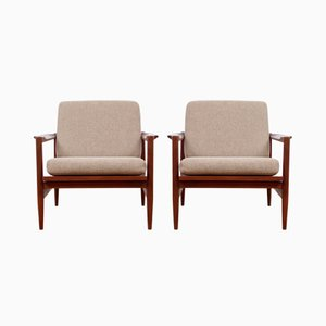 Scandinavian Teak Armchairs, Set of 2