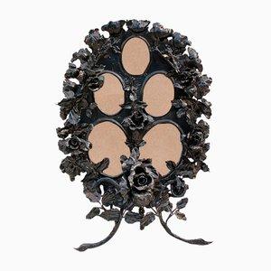 Cornice floreale in ferro battuto di Louis Van Boeckel, inizio XX secolo
