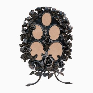 Wrought Iron Floral Photo Frame by Louis Van Boeckel, 1900s