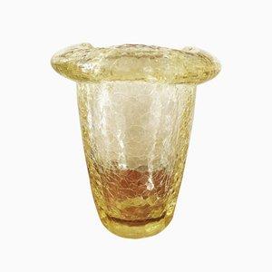 Vaso in vetro con crepe di Daum, anni '50