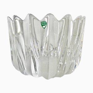 Scodella vintage in cristallo di Sven Palmqvist per Orrefors