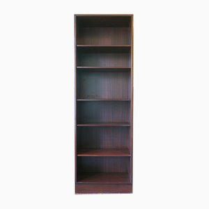 Narrow Mahogany Bookshelf by Poul Hundevad, 1980s