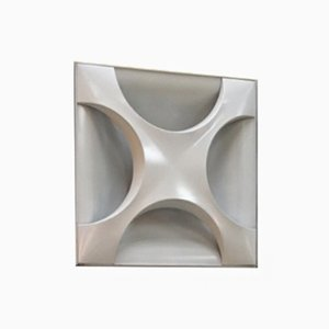 Vintage White Oyster Sconce by Dieter Witte & Rolf Krüger for Staff