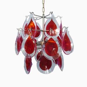 Vintage Italian Murano Glass Disc Ceiling Light by Gino Vistosi, 1960s