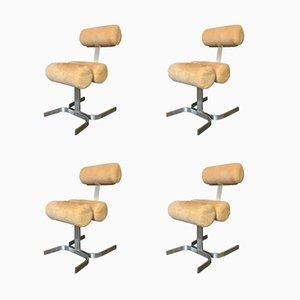 Vintage Vertebra Collection Stühle von Pierre Vandel, 4er Set