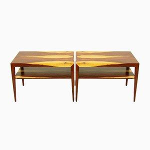 Tables d'Appoint Vintage par Severin Hansen pour Haslev, Set de 2
