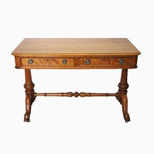 Antiker Seiden Birkenholz Schreibtisch, 1870er