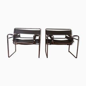 Wassily Armlehnstühle von Marcel Breuer, 1980er, 2er Set