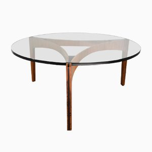 Mid-Century Modern Coffee Table in Rosewood by Sven Ellekaer for Christian Linneberg