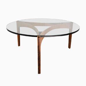 Vintage Coffee Table in Rosewood by Sven Ellekaer for Christian Linneberg