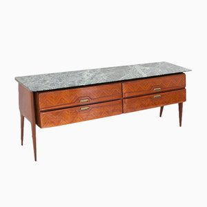 Mid-Century Italian Chest of Drawers with Marble Top, 1950s