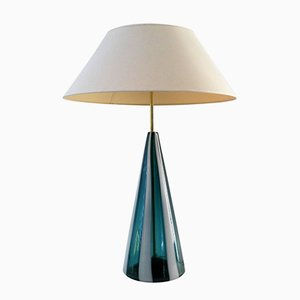 Italienische Tischlampe von Fulvio Bianconi für Venini, 1950er