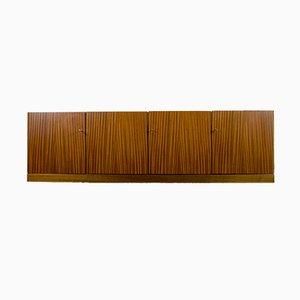 Hängendes Marmor & Walnuss Sideboard von Jos de Mey für Van den Berghe Pauvers, 1960er