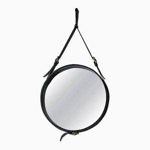 Miroir Mid-Century par Jacques Adnet pour Hermès, 1950s