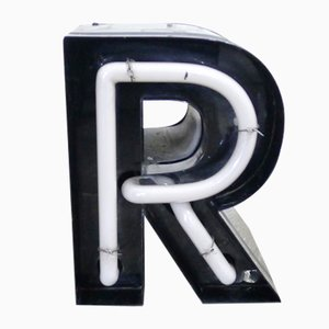 Vintage German Neon Letter R Sign, 1970s