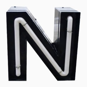 Vintage German Neon Letter N Sign, 1970s