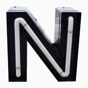 Vintage German Neon Letter N Sign, 1970s