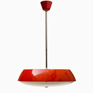 Red Pendant Light by Josef Hurka for Napako, 1960s