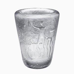 Schwedische Vase von Vicke Lindstrand für Kosta, 1950er