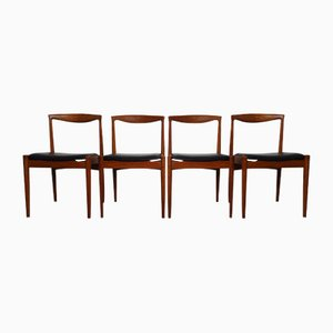 Vintage Teak Vamo PV Dining Chairs by Arne Vodder for Vamo Sonderborg, Set of 4