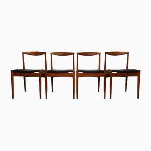 Vintage Teak Vamo PV Esszimmerstühle von Arne Vodder für Vamo Sonderborg, 4er Set