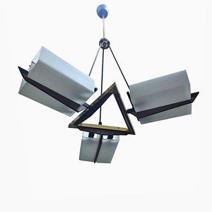Mid-Century moderno Italian Chandelier de Stilux, años 50