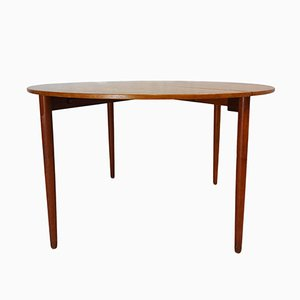Teak Drop Leaf Dining or Console Table by Poul M. Volther for Frem Røjle, 1956