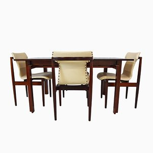 Teak & Leather Dining Room Set by Inger Klingenberg for France & Søn / France & Daverkosen, 1960s