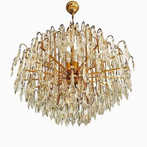 Murano Glass & Gold-Plated Brass Chandelier, 1970