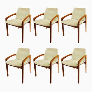 Carver Dining Chairs by Kai Kristiansen for Korup Stolefabrik, 1960s, Set of 6