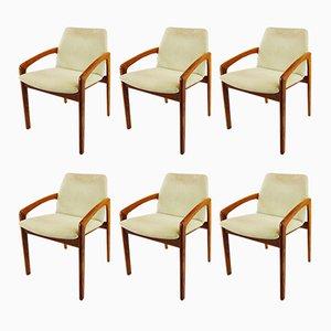 Carver Esszimmerstühle von Kai Kristiansen für Korup Stolefabrik, 1960er, 6er Set