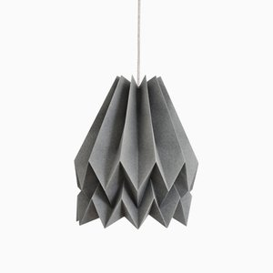 Alpine graue Origami Lampe von Orikomi
