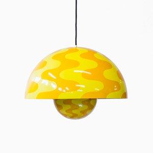 Lampada da soffitto grande di Verner Panton per Louis Poulsen, anni '70