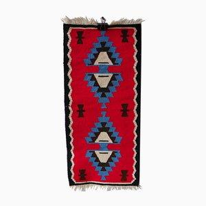 Alfombra Kilim vintage hecha a mano, años 60