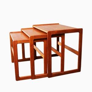 Tables Gigognes Mid-Century par Arne Hovmand-Olsen pour Mogens Kold, Danemark, 1960s, Set de 3