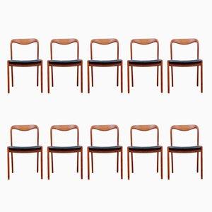 Chaises de Salon Vintage en Teck, Danemark, 1960s, Set de 10