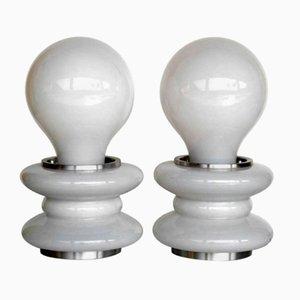 Lámparas de mesa de cristal de Murano de Mazzega, años 60. Juego de 2