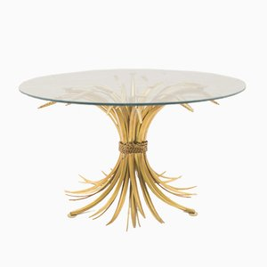 Vintage French Wheat Bundle Coffee Table, 1960s