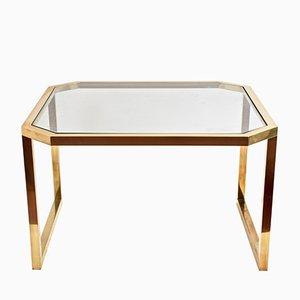 Tavolino da caffè ottagonale in ottone dorato di Maison Jansen, Francia, anni '70
