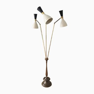 Vintage Italian Floor Lamp with Three Lights, 1950s