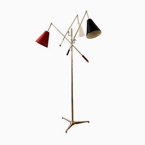 Lámpara de pie Triennale italiana vintage, años 50