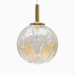 Lámpara colgante vintage de cristal de Murano, años 60