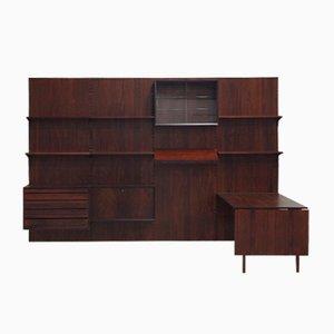 Mueble de salón modular de palisandro de Poul Cadovius para Cado, años 50
