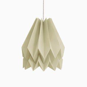 Lampada beige a forma di origami di Orikomi