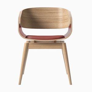 4th Armlehnstuhl mit weichem roten Sitz von Almost