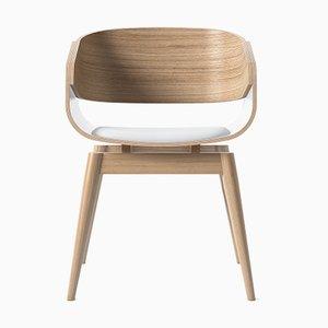 4th Armlehnstuhl mit weichem weißen Sitz von Almost